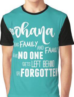 Ohana in white Graphic T-Shirt