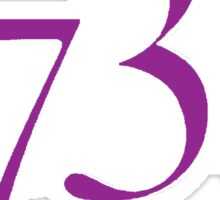 1738 - purple Sticker