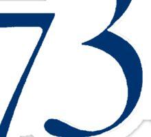 1738 - navy Sticker