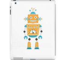 Cute robot - blue and orange iPad Case/Skin