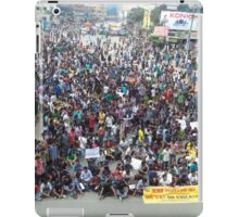 Private university students in Dhaka protest VAT on tuition fees iPad Case/Skin