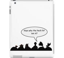 Intruder Alert! iPad Case/Skin