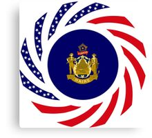 Maine Murican Patriot Flag Series 1.0 Canvas Print