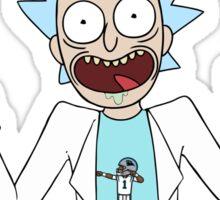 rick and morty, rick, morty, cartoon, funny, wuba, riggity, dab on them folk, cam newton. Sticker