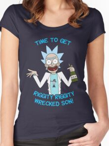 rick and morty, rick, morty, cartoon, funny, wuba, riggity, dab on them folk, cam newton. Women's Fitted Scoop T-Shirt