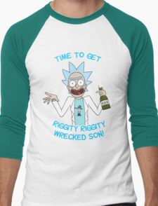 rick and morty, rick, morty, cartoon, funny, wuba, riggity, dab on them folk, cam newton. Men's Baseball ¾ T-Shirt