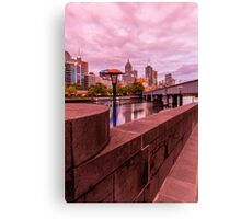 Sunsetting Hue Over Melbourne Canvas Print