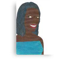Random Black Girl (Just Image) Canvas Print