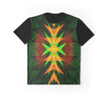 Neon Geometrical Abstract Graphic T-Shirt