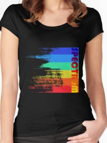Faded retro pop spectrum colors Women's Fitted Scoop T-Shirt
