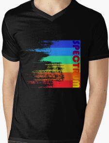 Faded retro pop spectrum colors Mens V-Neck T-Shirt