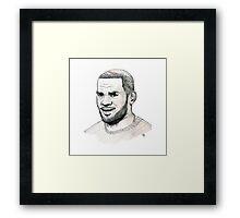 Lebron Framed Print