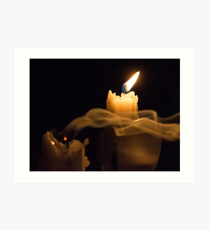 Two Candles Art Print