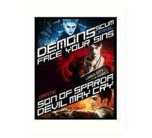 DmC Devil May Cry demon brothers Art Print
