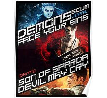 DmC Devil May Cry demon brothers Poster