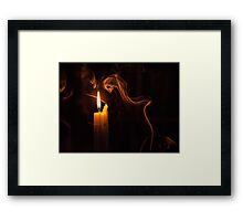 The candle and the smoke Framed Print