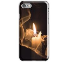 The candle and the smoke 1 iPhone Case/Skin