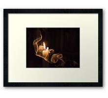 The candle and the smoke 1 Framed Print