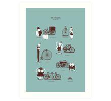 Meet The Cyclists Art Print