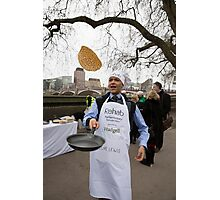 Clive Lewis at the Rehab Parliamentary Pancake Race 2016 Photographic Print