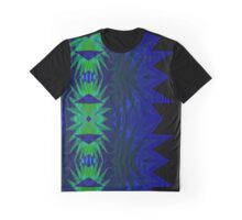 Dark Tranquil Blue Triangle Neo Geo Abstract Graphic T-Shirt