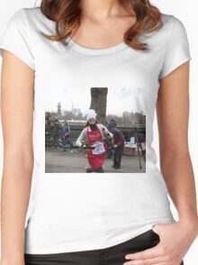 Mia Reakes Reuters Tv at the Rehab Parliamentary Pancake Race 2016 Women's Fitted Scoop T-Shirt