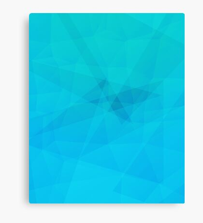 Light Blue Abstract Polygon Pattern Canvas Print