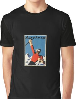 Snow! Skis! Austria!  Graphic T-Shirt