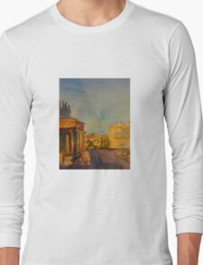 Streetscape Lancefield (watercolour) Victoria Australia Long Sleeve T-Shirt