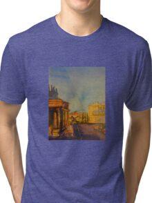 Streetscape Lancefield (watercolour) Victoria Australia Tri-blend T-Shirt
