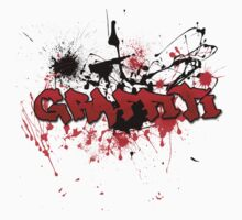 Graffiti theme and abstract background One Piece - Short Sleeve