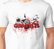 Graffiti theme and abstract background Unisex T-Shirt