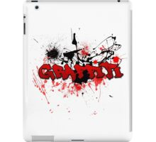 Graffiti theme and abstract background iPad Case/Skin