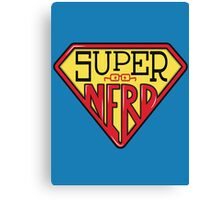 Super Nerd Man Canvas Print
