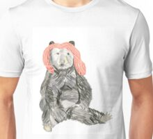 A Bear with Pink Hair. Unisex T-Shirt