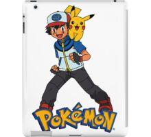 Ash with Pikachu 002 - pokemon iPad Case/Skin