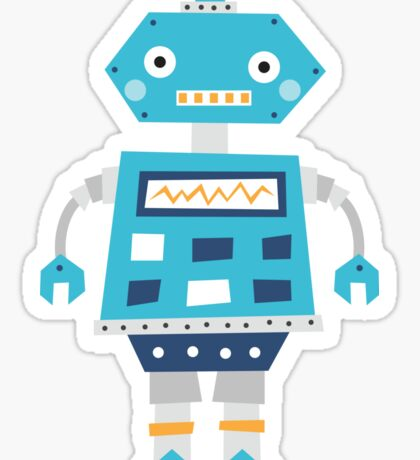 Retro robot Sticker