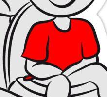 loo wc sitting little boy Sticker