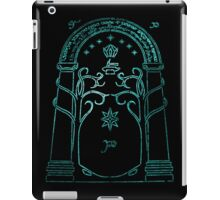 lord of the rings, doors of durin iPad Case/Skin