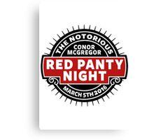 Conor Mcgregor, Red Panty Night Canvas Print