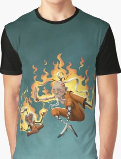 Shaolin and Monkey Graphic T-Shirt