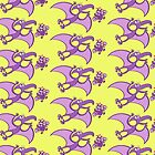 Bold bat madly in love with a pterodactylus by Zoo-co