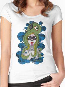 Octo Skull Girl Women's Fitted Scoop T-Shirt