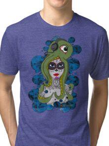 Octo Skull Girl Tri-blend T-Shirt