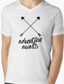 Adventure Awaits (cross arrows) Mens V-Neck T-Shirt