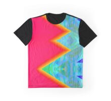 Bright Pink Neo Geo Abstract Graphic T-Shirt