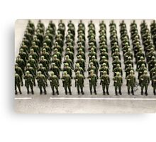 military teamwork Canvas Print