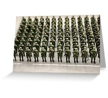 military teamwork Greeting Card