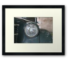headlight vintage car Framed Print