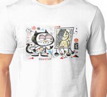 Cartoon cat painting picasso style self portrait Unisex T-Shirt